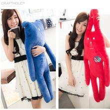 1pcs 40CM Japan's last single accent crfat plush toy rabbit red pear New York Series Pure Blue Bear Doll Pillow