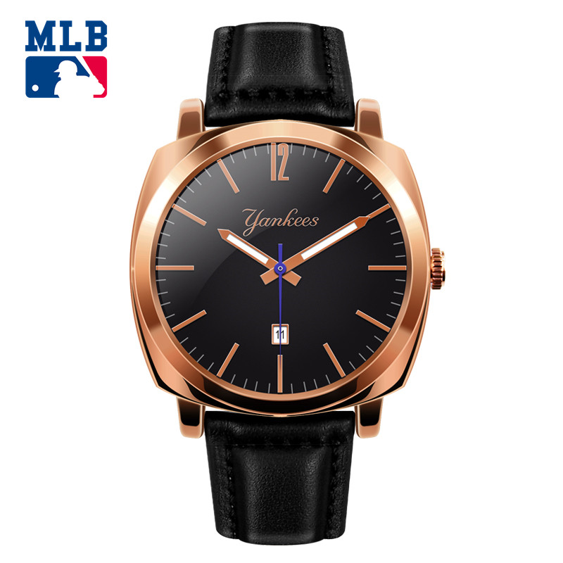 MLB Time square series fashion sport couple  watch waterproof wristwatch leather  band  quartz watch for men and women  SD008
