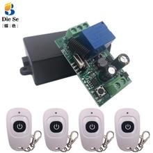 433 МГц Универсальный беспроводной пульт дистанционного управления AC 110 В 220 В 1CH РЧ Реле Переключатель и передатчик для дистанционного ворот гаражный свет управление
