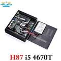 Partaker h87 i7 i5 i3 4150 t 4650 t 4770 t fanless mini pc com hdmi vga portas de exibição