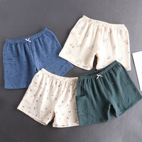 Sleepwear Women Gauze Shorts Pajama Shorts Pants Soft Cotton Sleep Shorts