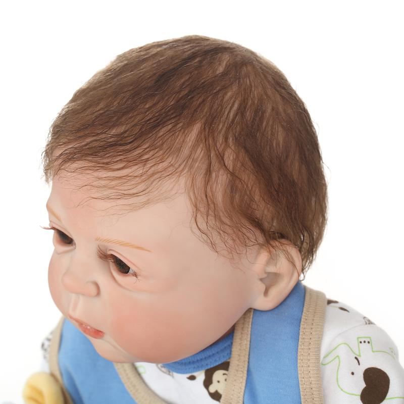 23 quot 57cm NPKDOLL Full Body Silicone Reborn Baby Boy Doll Bebe all Vinyl Dolls cameron awake Reborn Children Bath Doll Toys Gifts in Dolls from Toys amp Hobbies