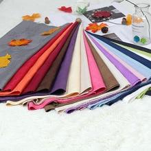 150x100cm tela de gamuza Lisa teñida color sólido para hacer funda de cojín Mesa paño sofá cubierta cortina zapatos bolsa diy doys