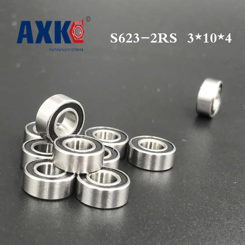 Free shipping 50pcs SS623-2RS S623 623 3*10*4 Miniature bearing stainless steel hybrid ceramic bearing for fishing vessels free shipping 10pcs mr62zz mr63zz mr74zz mr84zz mr104zz mr85zz mr95zz mr105zz mr115zz mr83zz miniature bearing