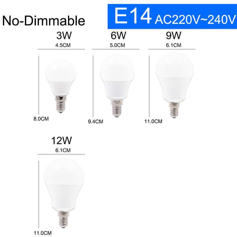 Lampu LED E27 LED Bulb AC 220 V 240 V 20 W 18 W 3 W 15 W 12 W 9 W 6 W Lampada LED Lampu Meja Lampu Lampu LED E14 230 V