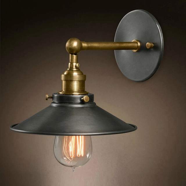 Ecolight Free Shipping Vintage Country Cottage Wall Lamps 1 Light Black Painted E26 E27 Bed Room