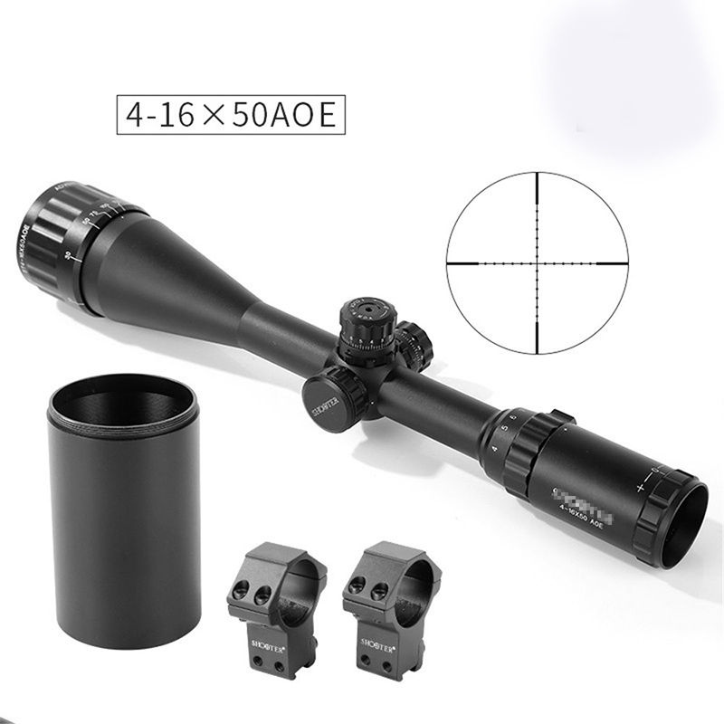 Tactical ST 4-16x50AOE Hunter Rifle Scope Black Color For Shooting Hunting With Lens Cap PP1-0350 1 5 4 28 rifle scope rifle scope shooting hunting pp1 0165