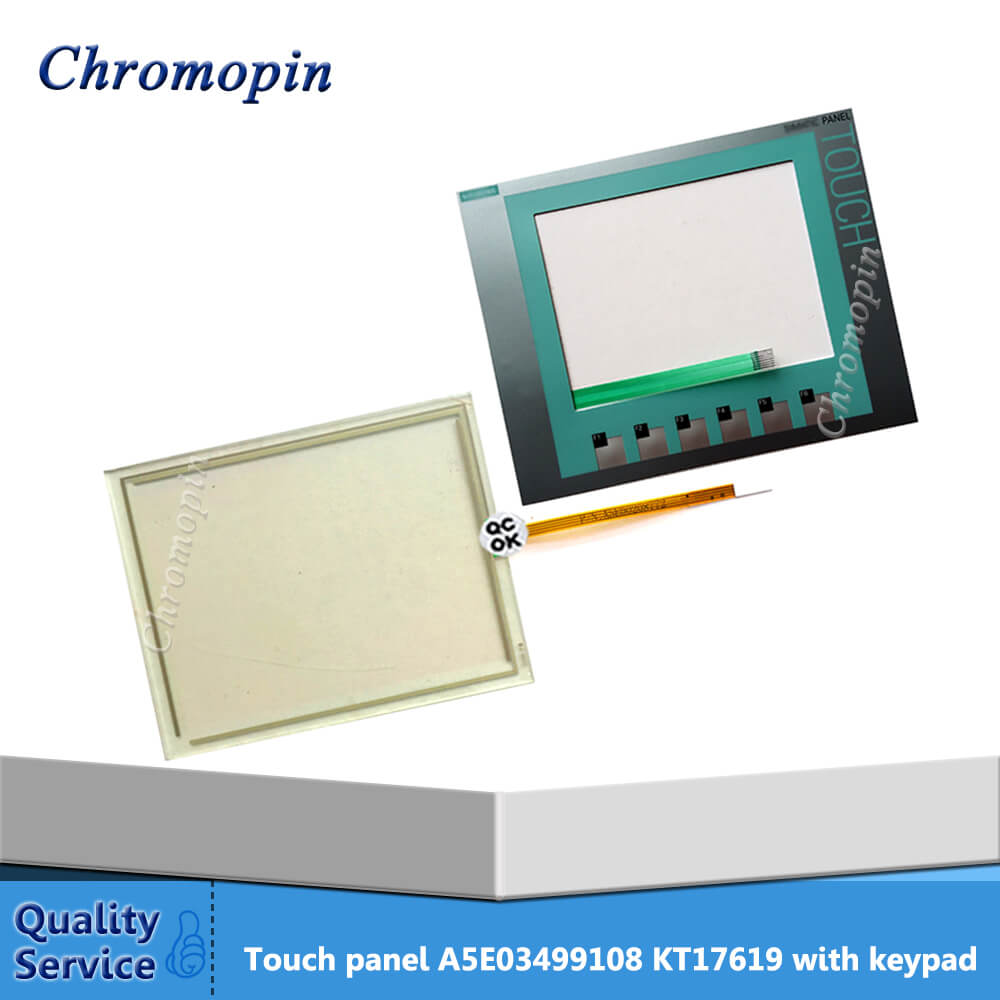 цена на A5E03499108 KT17619 Touch Screen Panel with Membrane Keyboard Switch for PLC HMI Repair