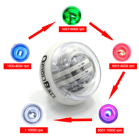 LED Color Changes with The Speed Power Strength Training Force Ball Gyroscope Gyro Wrist Ball Exerciser Carpal Expander