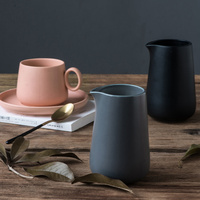 Simple Nordic ins household Japanese style European ceramic coffee milk jug teapot juice jug milk jug the afternoon LM5161635