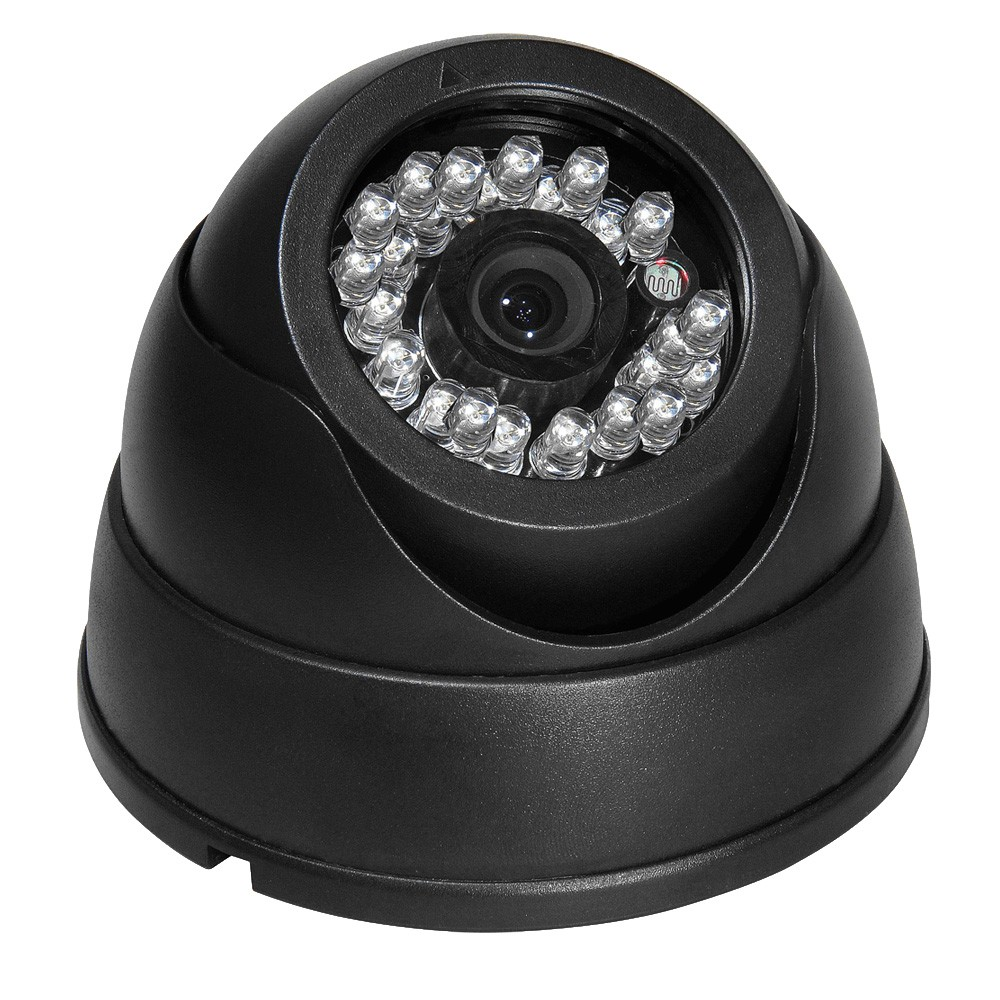 1200TVL Color CCD IR Day Night Vision Dome Wide Angle CCTV Security ...
