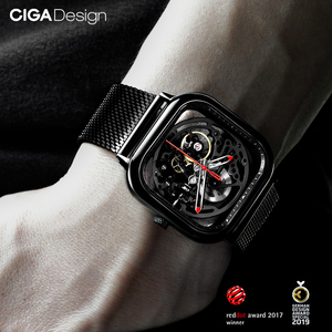 Image 5 - CIGA Watch Hollowed out Mechanical Wristwatches Watch Reddot Winner Stainless Fashion Luxury Automatic Watches