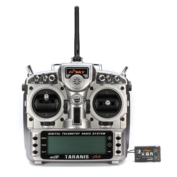 FrSky ACCST Taranis X9D PLUS 16CH 2.4GHz Transmitter with X8R frsky accst taranis x9d plus 16ch 2 4ghz transmitter with x8r receiver mode 2 for racing drone