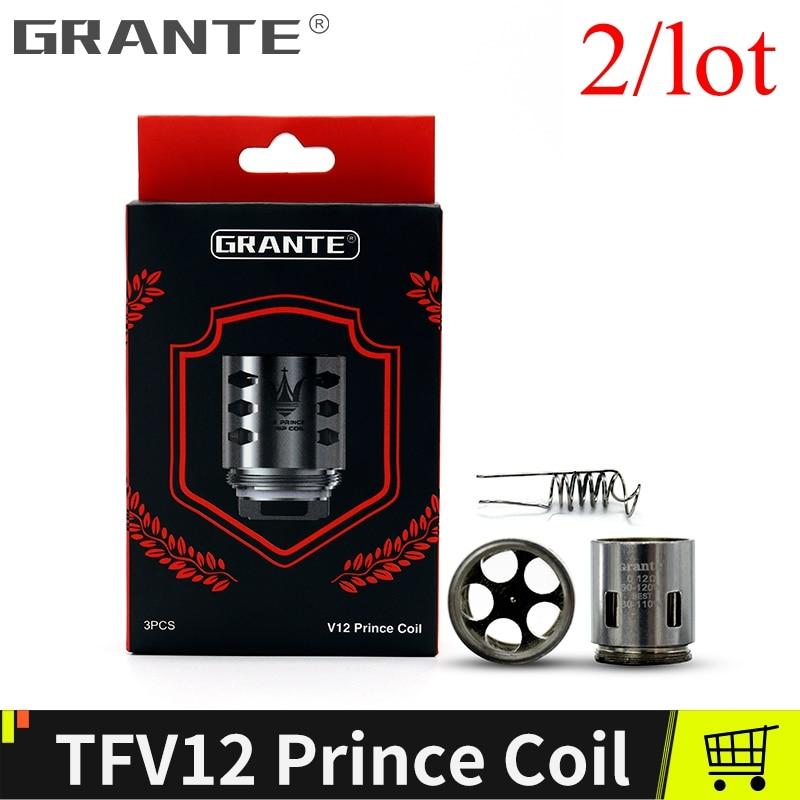 Grante TFV12 Prince Coil TFV12 T10 coil accessoires Fit TFV12 Prince Atomizer Tank Vape Coil E Cigarettes 2lot In stock