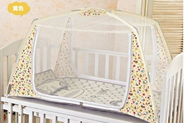 New Portable Crib Mosquito Net Toddler Bed Tent Netting Summer StyleOne Door Baby