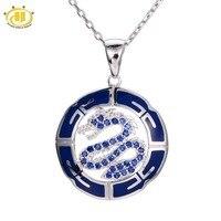 Hutang مكون الياقوت الأزرق المينا ثعبان قلادة 925 فضة قلادة عنصر الصينية غرامة مجوهرات