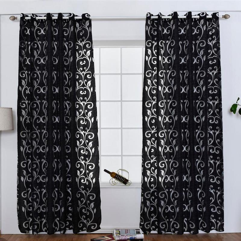Rideau Fenêtre Salon Jacquard Tissus De Luxe Semi Occultant Rideaux