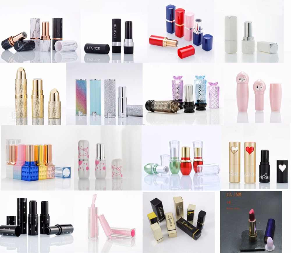 10 pcs empty lipstick tube lip stick container packing 12.1  silicone mould paper box