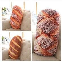 3D Creative Bread Pattern Pillow Funny Printing Soft Massage Neck Pillow PP Cotton Filler Cervical Health Care Pillow 50cm 70cm