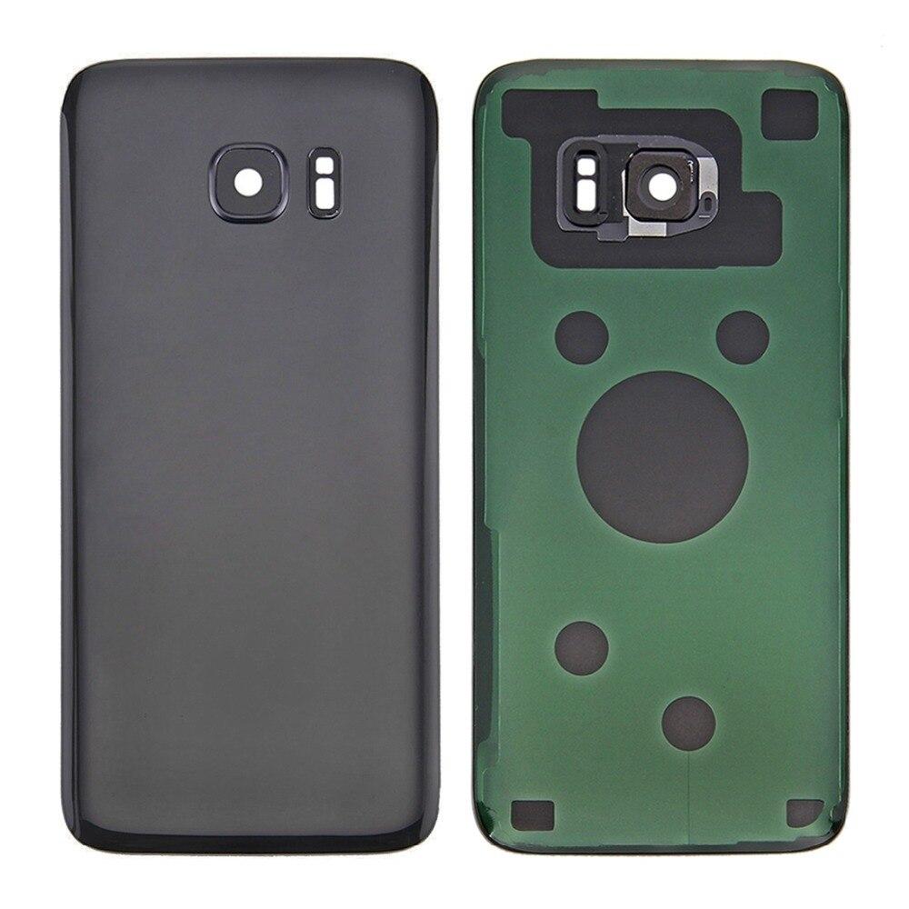 Original Batterie Zurück Abdeckung mit Kamera Objektiv Abdeckung für Galaxy S7 Rand/G935