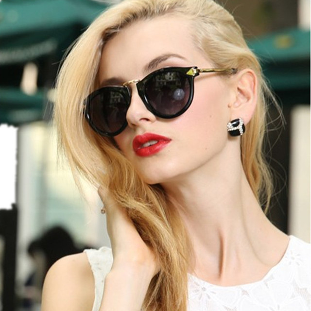 123da9843cb All-match Fashion Sunglasses Mirror UV Protection Sexy Sun Glasses for Women  Girl Eyewear With Retail Box Free Shipping