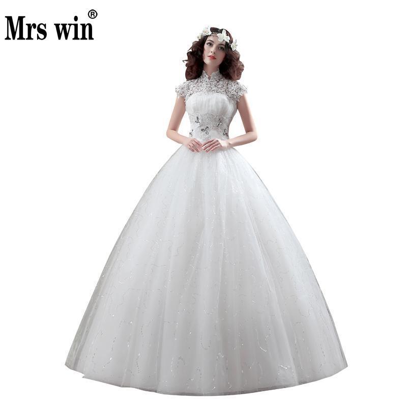New Arrive Korean Style Large Size Vintage Wedding Dress