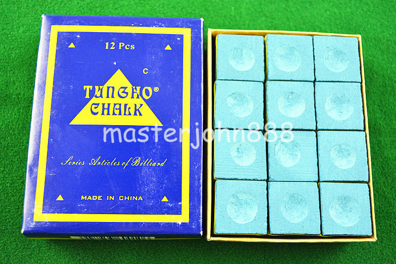 2pcs TUNGHO Pool Billiards Snooker Cubes Chalk Light Blue Free Shipping Wholesales