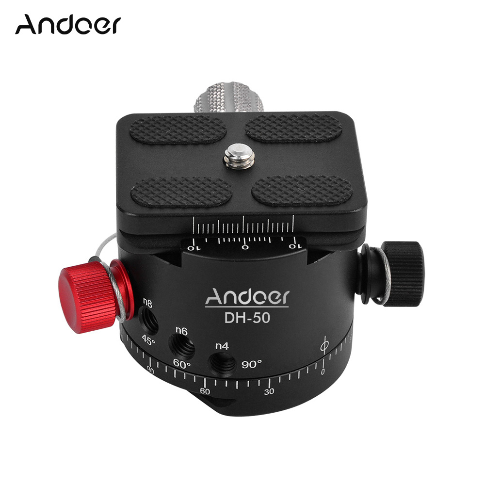 High Quality Andoer DH 50 Panoramic Ball Head Indexing Rotator Tripod Head Max Load 22Lbs for