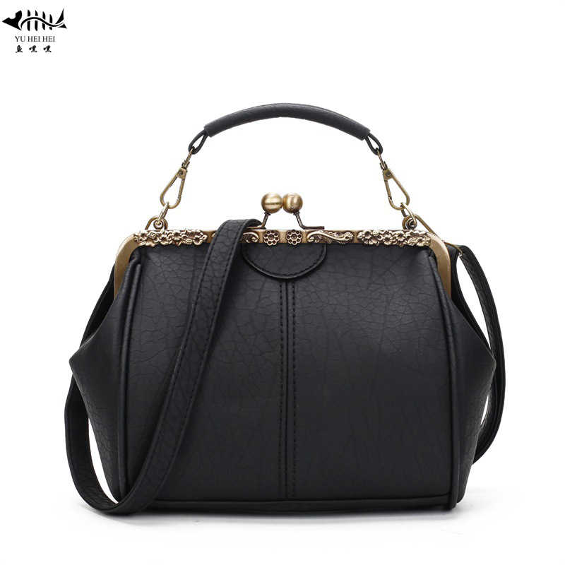 Detail Feedback Questions about Vintage PU Leather Strap Kiss Lock Bags For  Women Retro Hollow Out Unique Woman Shoulder Crossbody Bag Handbags free ... fcb304f71c433