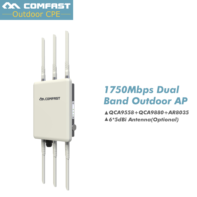 Haute puissance omnidirectionnelle sans fil AP COMFAST WA900 802.11 Ac/b/g/n 5G & 2.4G couverture WiFi extérieure station de base 1750 M routeurs WiFi