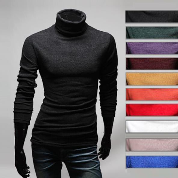 Homens de assentamento, Homem camisola de tricô, Gargantilha, Gola alta camisa de apoio, Masculino blusa masculina camisola