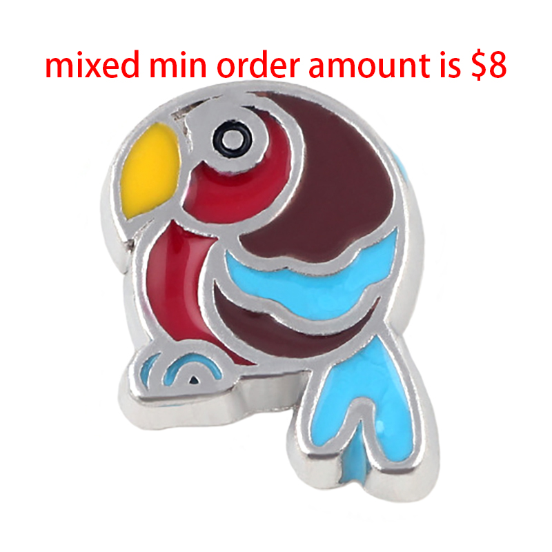 10pcs Cute bird floating lockets charm,Fit floating Necklace charm lockets. S-033-2
