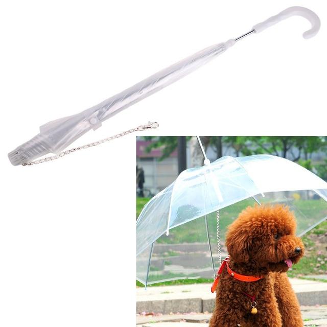 Прозрачный плащ-зонтик для собак для щенков-питомцев, открытый зонтик с поводками, защищает домашних животных от сухого дождя