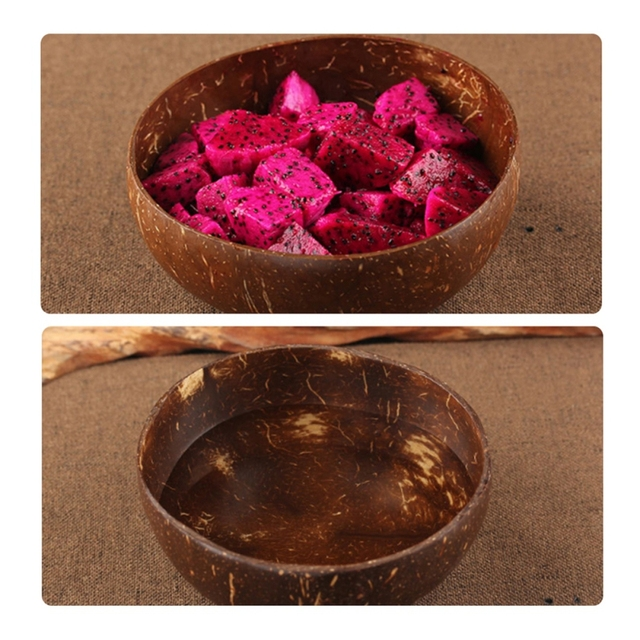 Kitchen Natural Coconut Shell Bowl Home Desktop Storage Tray for Living Room Decoration Handmade Coconut Container Nuts Holder