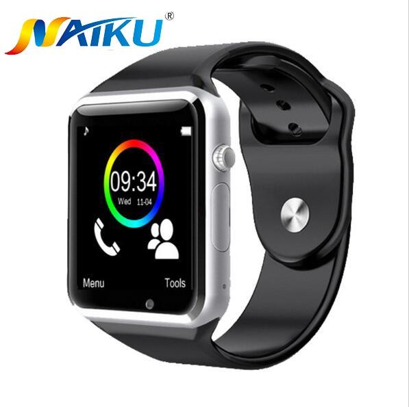 Naiku Bluetooth Смарт часы наручные часы Спорт Шагомер с SIM Камера SmartWatch для Android-смартфон PK GT08 U8 M26