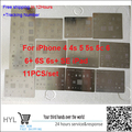 11pcs/lot high quality full set BGA Reballing Stencil dedicate kit for iPhone 4 4s 5 5s 5c 6 6+ 6S 6s+ SE For iPad