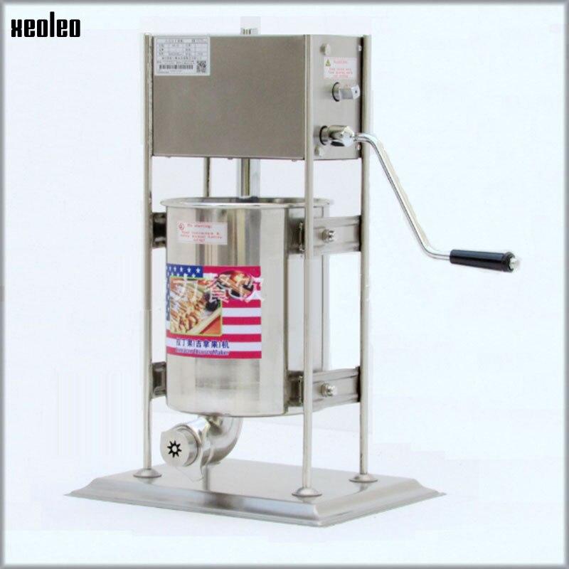 XEOLEO 12L Latin fruits remplissage espagnol Churros fabricant de remplissage machine à torsion commerciale automatique en acier inoxydable équipement 220 V
