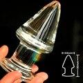 Короткие pyrex стекло анальный фаллоимитатор анальная пробка кристалл бисера влагалище мяч мужской пенис мастурбатор взрослый продукт секс-игрушки для женщины мужчины гей
