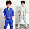 Новинка весна / осень детская одежда Set ребенок мальчик спортивный костюм свободного покроя спортивный костюм