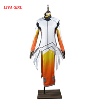 2017 Angela Ziegler Cosplay Costume Mercy Outfit Adult Women Halloween Carnival Clothes Custom Made