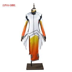 Ангела Циглер косплей костюм в стиле Mercy для взрослых женщин Хэллоуин Карнавальная одежда на заказ