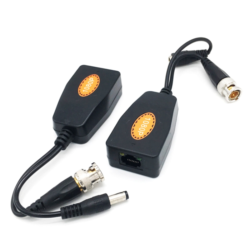 1 Pair BNC To RJ45 Passive Video Power + Audio Balun Transceiver For CCTV Camera1 Pair BNC To RJ45 Passive Video Power + Audio Balun Transceiver For CCTV Camera