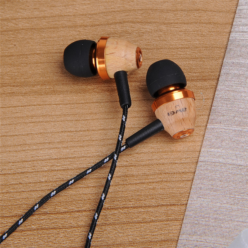 Super Bass in ear Wooden Wood 3 5mm Earphone headset for iPhone Samsung HTC Huawei Meizu