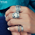 Artilady boho jewelry ring set vintage Bohemia antic silver rings for women jewelry party gift
