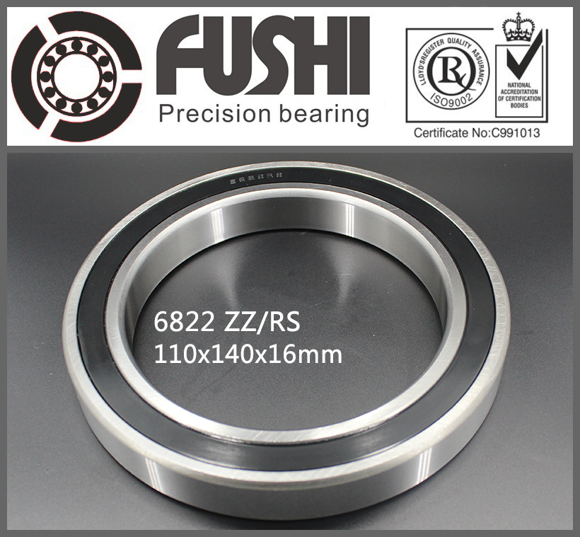 6822 2RS ABEC-1 110x140x16MM Metric Thin Section Bearings 61822 RS 2018 hot sale time limited steel rolamentos 6821 2rs abec 1 105x130x13mm metric thin section bearings 61821 rs 6821rs