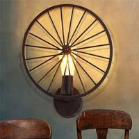 GERUITE Vintage Plated Industrial LED Wall Lamp Retro Loft Lampshade Stair Bathroom Iron Wall Sconce Abajur Luminaria