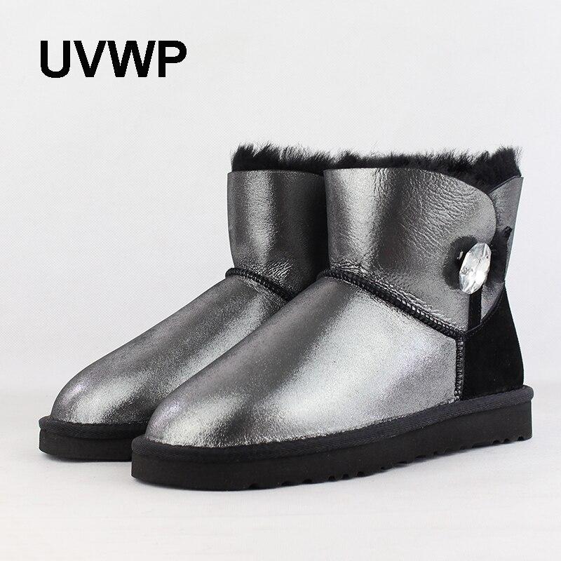 ba489fac8fc04a Fourrure Picture Neige Hiver Peau Mode Naturelle Au Chaussures Black  Cheville D'hiver Uvwp Mouton pink ...