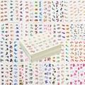 60 Hojas Mezcla de Estilos de Plumas de Marca de Agua Pegatinas de Dibujos Animados de Uñas de Arte de Transferencia de Agua Consejos Tatuajes Temporales Tatuajes Belleza Herramientas