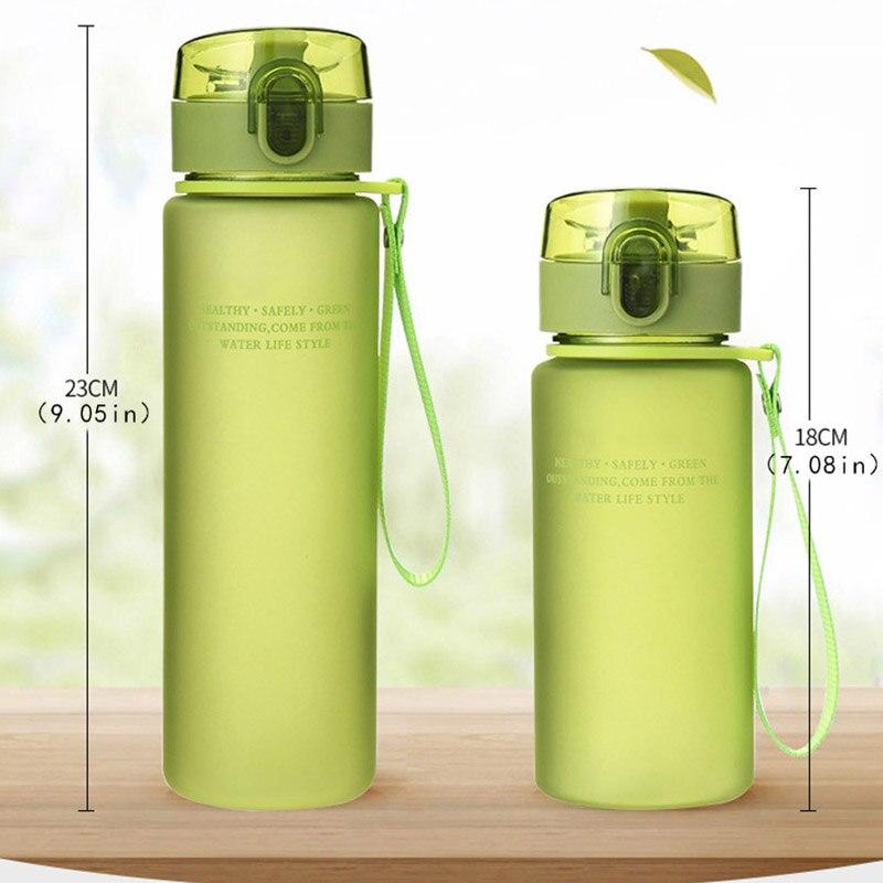 Sport Water Bottle Anti Hot Leak Proof Plastic Drink Tour Hiking Camping DP