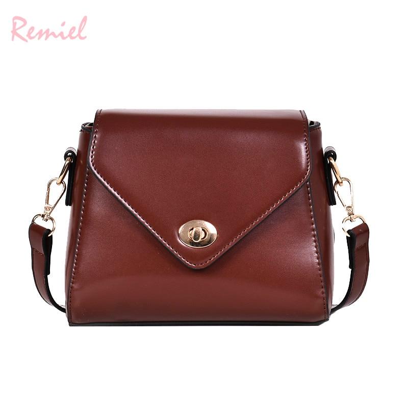 European Fashion Retro Ladies Square bag 2018 New High quality PU Leather Women's Designer Handbag Lock Shoulder Messenger Bags 5